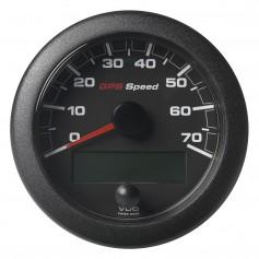VDO Marine 3-3-8- -85mm- OceanLink GPS Speedometer - Black Dial Bezel -0-70 K-MPH-KMH-