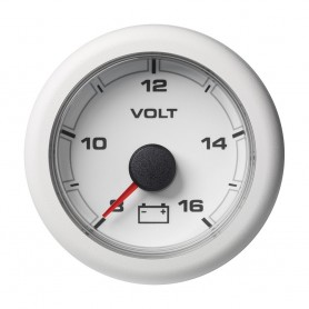 VDO Marine 2-1-16- -52MM- OceanLink Battery Voltage Gauge - White Dial Bezel