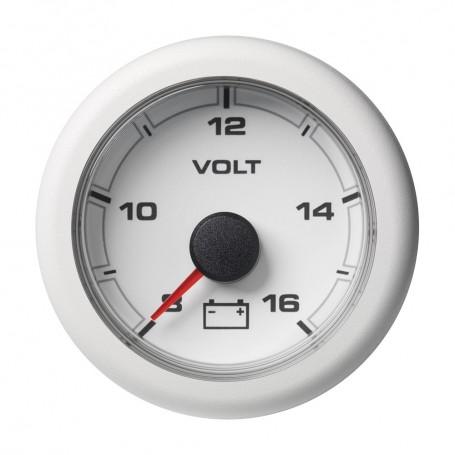 VDO 2-1-16- -52MM- OceanLink Battery Voltage 8-16 V White Dial Bezel