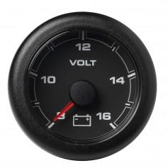 VDO Marine 2-1-16- -52MM- OceanLink Battery Voltage Gauge -8 to 16V- Black Dial Bezel