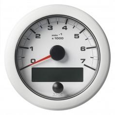 VDO Marine 3-3-8- -85mm- OceanLink Tachometer 7000 RPM - White Dial Bezel