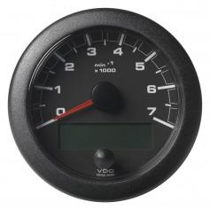 VDO Marine 3-3-8- -85mm- OceanLink Tachometer 7000 RPM - Black Dial Bezel