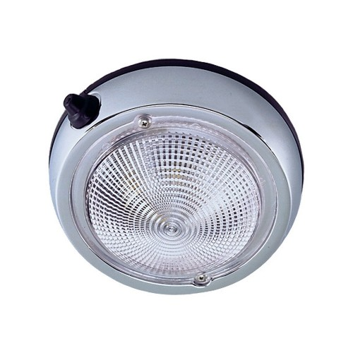 Perko Surface Mount Dome Light - 6- O-D--5- Lens- - Chrome Plated