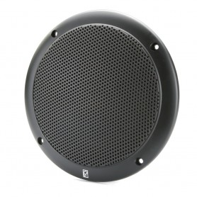 Poly-Planar 4- 2-Way Coax Integral Grill Marine Speaker - -Pair- Black