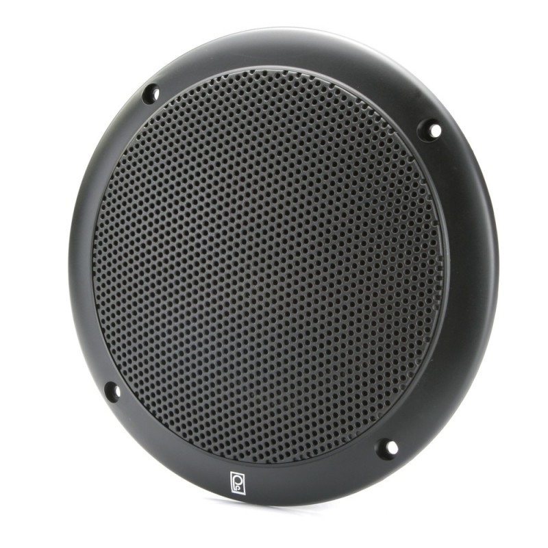 Poly-Planar 4- 2-Way Coax Integral Grill Marine Speaker - -Pair- Black