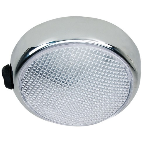 Perko Round Surface Mount LED Dome Light - Chrome Plated - w-Switch