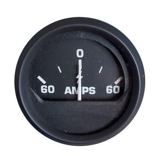 Faria Ammeter Gauge -60-0-60 Amps- - Black