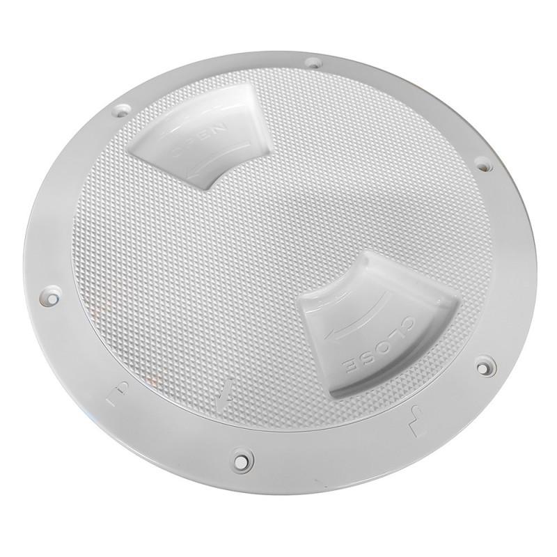 Sea-Dog Textured Quarter Turn Deck Plate - White - 5-