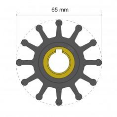Albin Pump Premium Impeller Kit 65 x 15-8 x 41-5mm - 12 Blade - Key Insert