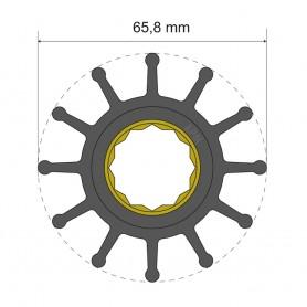 Albin Pump Premium Impeller Kit 65-8 x 25 x 80mm - 12 Blade - Spline Insert