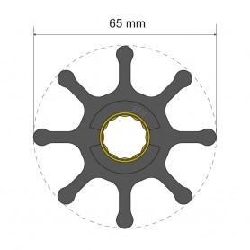 Albin Pump Premium Impeller Kit 65 x 16 x 50mm - 8 Blade - Spline Insert