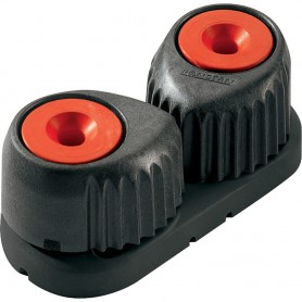 Ronstan Small Alloy Cam Cleat - Red- Black Base