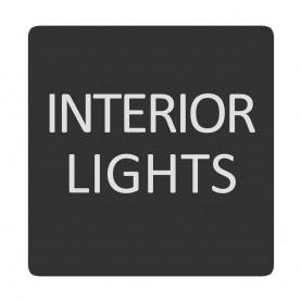 Blue Sea 6520-0284 Square Format Interior Lights Label