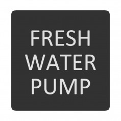 Blue Sea 6520-0200 Square Format Fresh Water Pump Label
