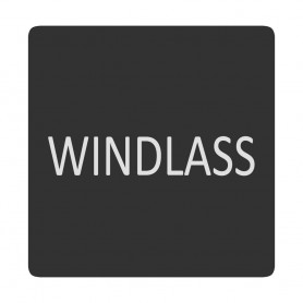Blue Sea 6520-0448 Square Format Windlass Label