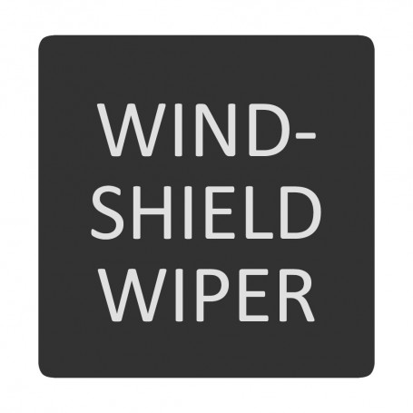 Blue Sea 6520-0449 Square Format Windshield Washer Label