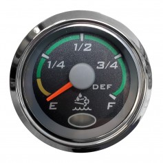 Faria 2- Euro Black Fuel Level Gauge