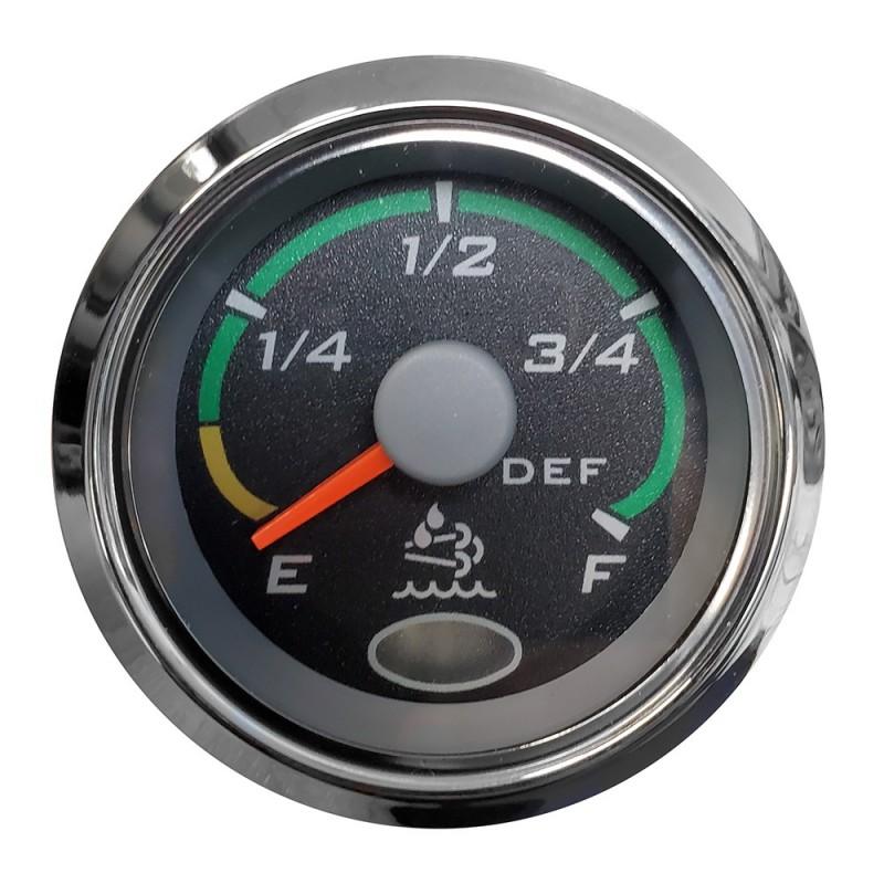 Faria 2- Fuel Level Gauge Euro Black w-Stainless Steel Bezel