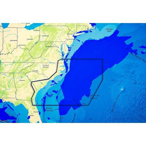C-MAP Reveal - US Atlantic - Virginia to North FL- Norfolk VA to Jacksonville FL