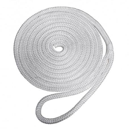 Robline Premium Nylon Double Braid Dock Line - 3-8- x 25 - White