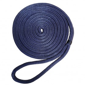 Robline 3-8- x 25 Premium Nylon Double Braid Navy Blue Dock Line