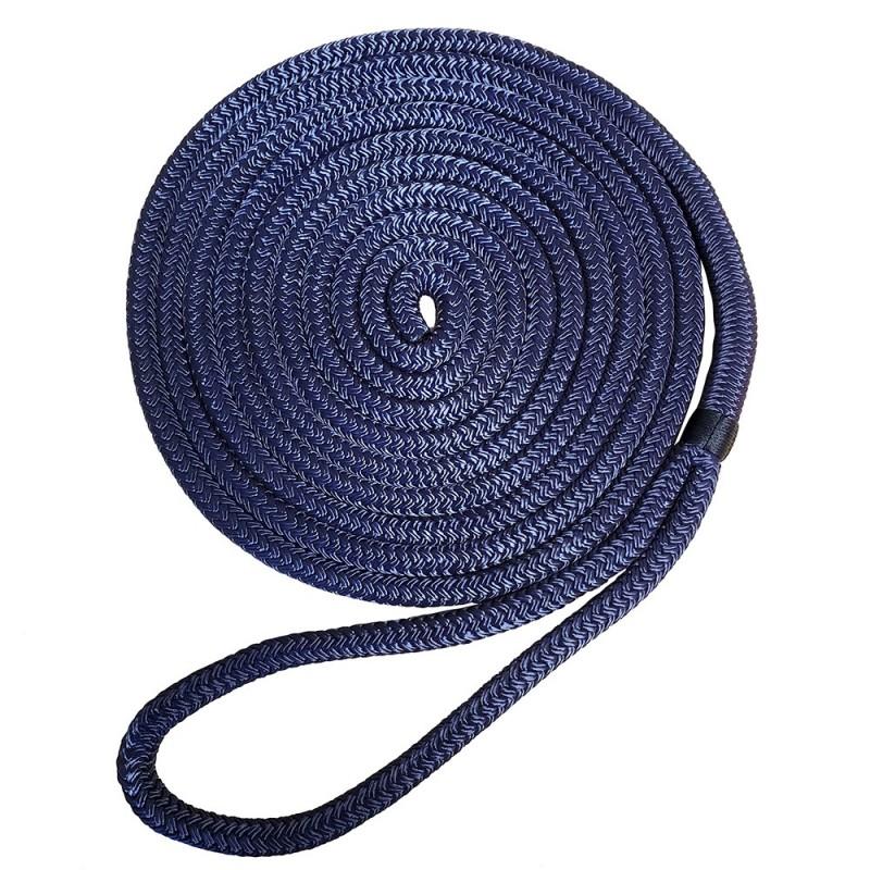 Robline 3-8- x 25 Premium Nylon Double Braid Navy Blue Dock Line