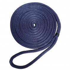 Robline Premium Nylon Double Braid Dock Line - 1-2- x 15 - Navy Blue