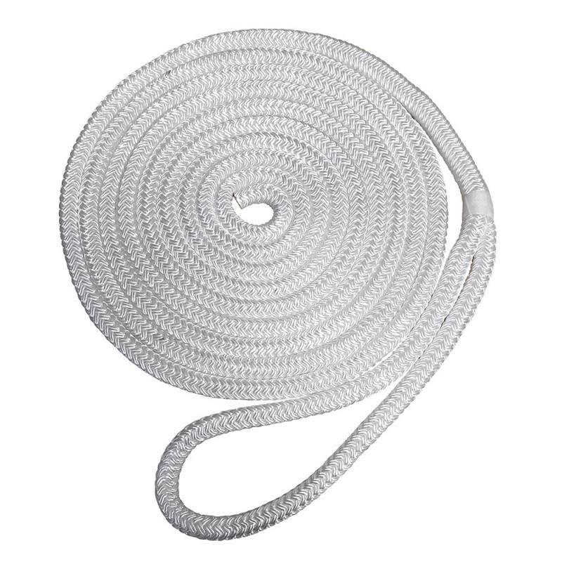 Robline Premium Nylon Double Braid Dock Line - 1-2- x 25 - White