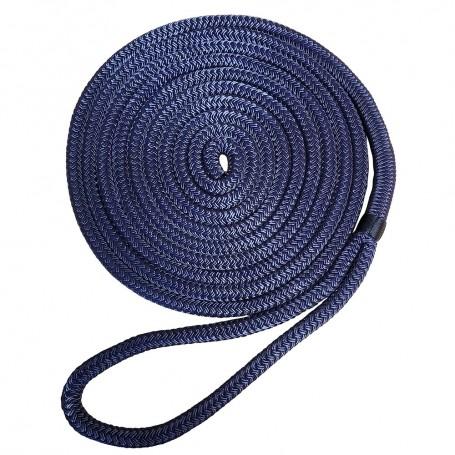Robline Premium Nylon Double Braid Dock Line - 5-8- x 25 - Navy Blue