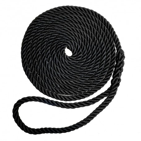 Robline Premium Nylon 3 Strand Dock Line - 1-2- x 15 - Black