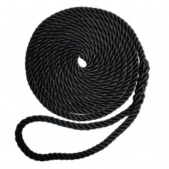 Robline Premium Nylon 3 Strand Dock Line - 1-2- x 20 - Black