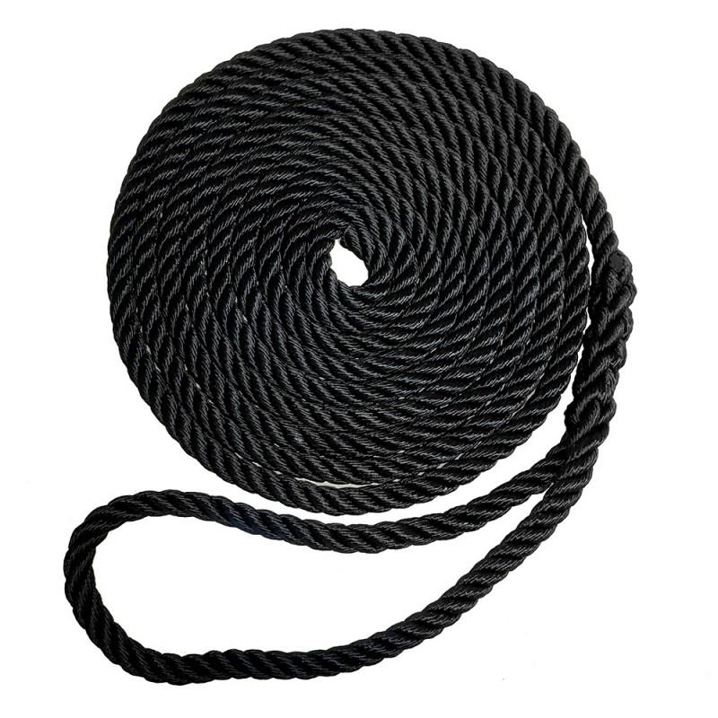 Robline Premium Nylon 3 Strand Dock Line - 5-8- x 30 - Black