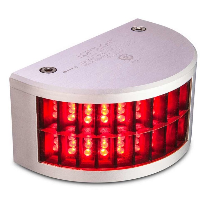 Lopolight Port Sidelight - 3nm f-Vessels Over 164- -50M- - Red