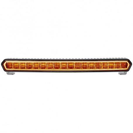 RIGID Industries SR-L Series 20- Off-Road LED Light Bar - Black w-Amber Halo Back Lighting