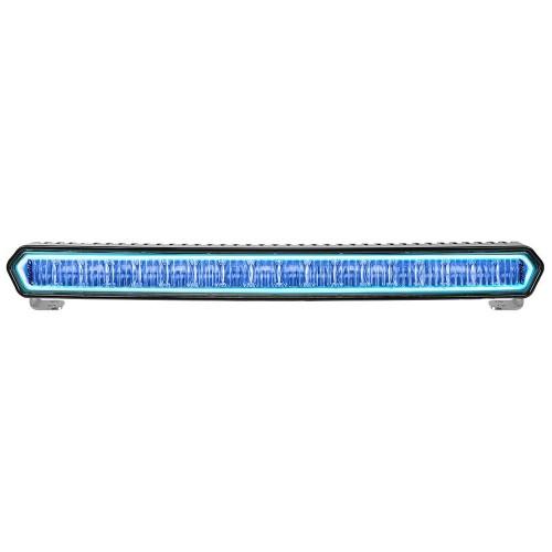 RIGID Industries SR-L Series 20- Off-Road LED Light Bar - Black w-Blue Halo Back Lighting