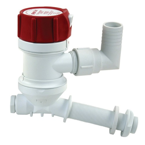 Rule -C- Tournament Series 500 GPH Livewell-Aerator w- Angled Inlet