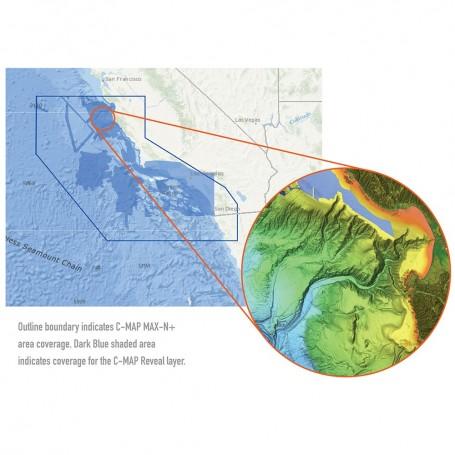 C-MAP Reveal - US Pacific - San Diego to Santa Cruz CA