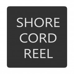 Blue Sea 6520-0382 Square Format Shore Cord Reel Label