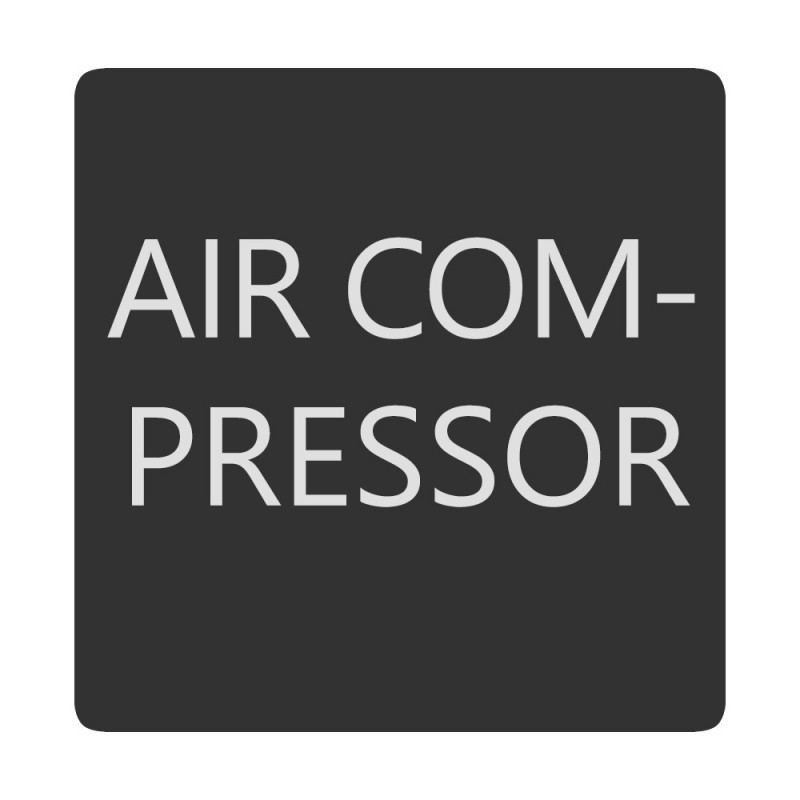 Blue Sea 6520-0025 Square Format Air Compressor Label