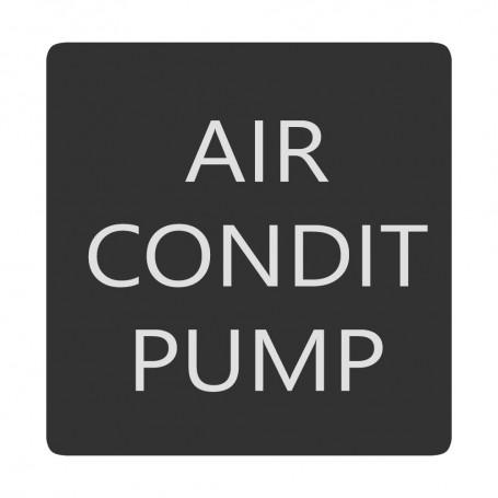 Blue Sea 6520-0030 Square Format Air Conditioner Pump Label