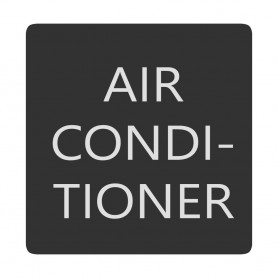 Blue Sea 6520-0026 Square Format Air Conditioner Label