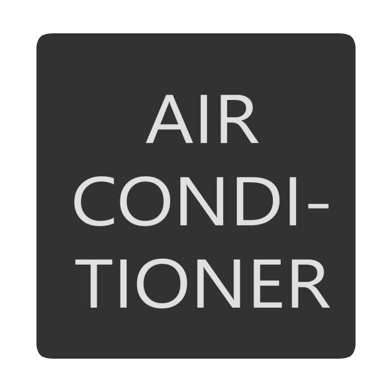 Blue Sea 6520-0026 Square Format Air Conditioner Label