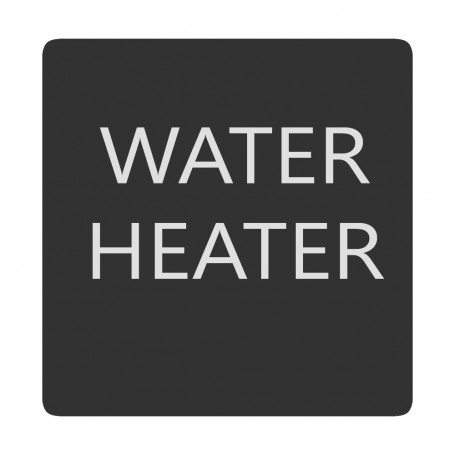 Blue Sea 6520-0438 Square Format Water Heater Label