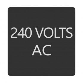 Blue Sea 6520-0008 Square Format 240 Volts AC Label