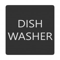 Blue Sea 6520-0138 Square Format Dish Washer Label
