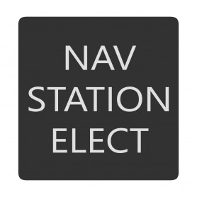 Blue Sea 6520-0321 Square Format Nav Station Elect Label