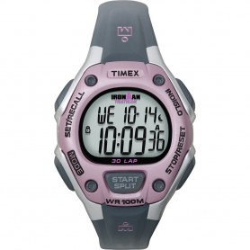 Timex IRONMAN 30-Lap Mid-Size Watch - Pink-Grey