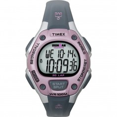 Timex IRONMAN 30-Lap Mid-Size Watch - Pink-Grey