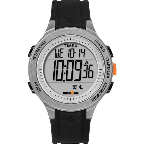 Timex IRONMAN Essential 30-Lap Unisex Watch - Black-Grey-Orange