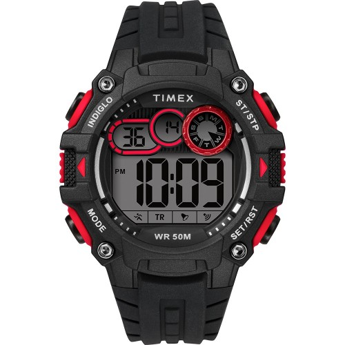 Timex Mens Big Digit DGTL 48mm Watch - Red-Black
